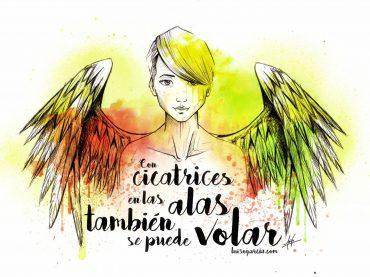 Alas, por Luiso Garcia, Acuarela y pincel
