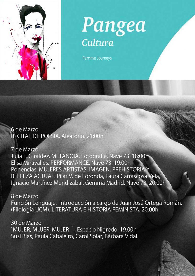 cartel jornadas mujer Pangea Cultural
