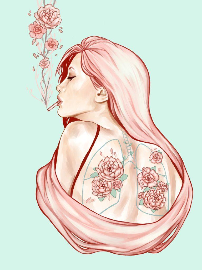 """""""Fumo Flores"""", por Victoria Ripalda."""
