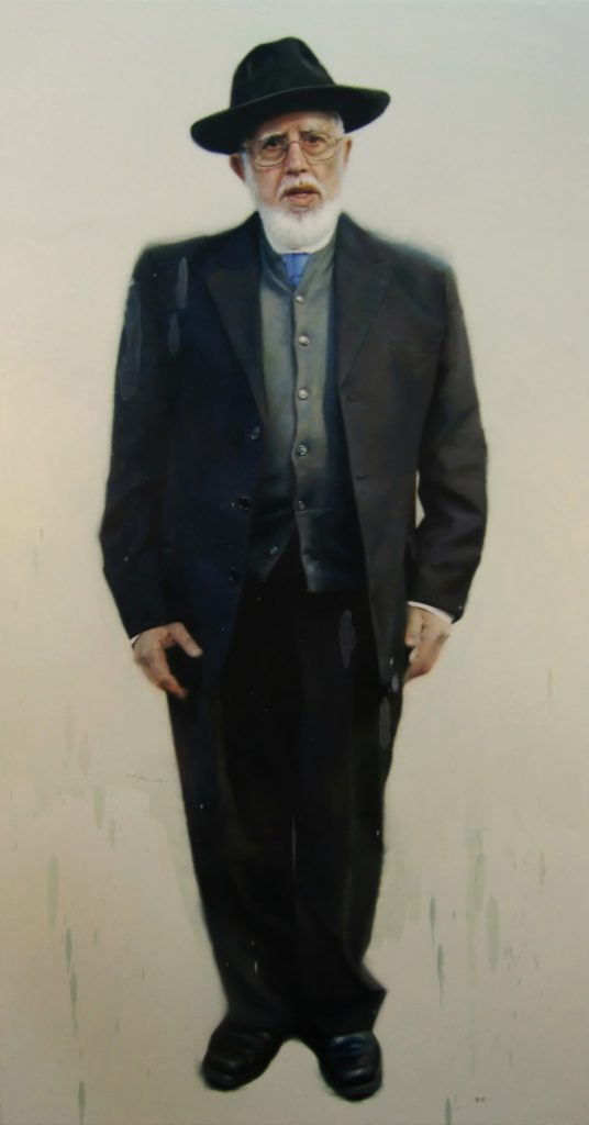 "Jair Leal ""Rav Moshe Bendahan"". Oil on canvas. 170 x 90 cm. 2013."