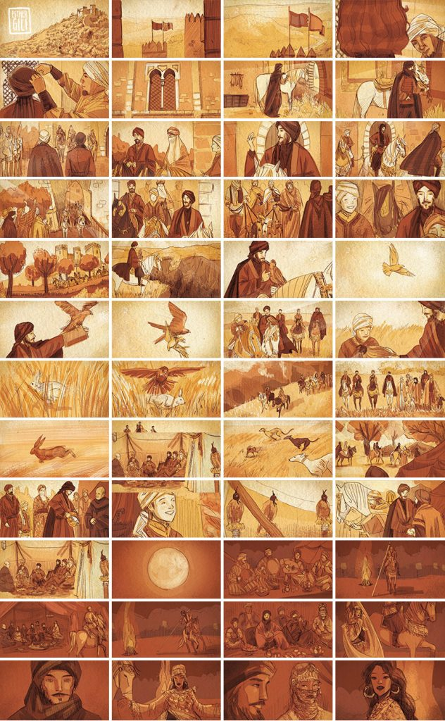 Esther Gili. Storyboard Cine
