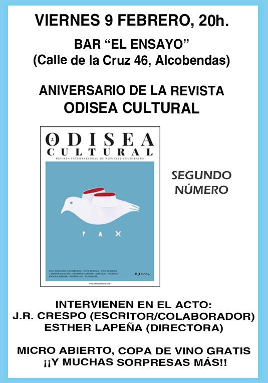 cartel revista Odisea 2018 Alcobendas